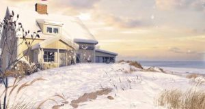 Winter im kleinen Fördehaus